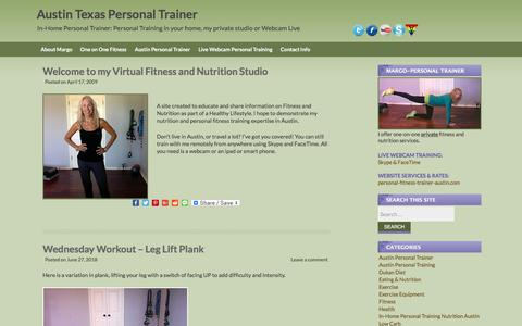 Screenshot of Blog personal-fitness-trainer-austin.com - Personal Trainers Austin Texas Westlake Lakeway TX - captured July 1, 2018