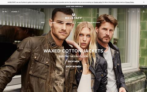 Screenshot of Home Page belstaff.com - Belstaff.com - Official Online Store | Belstaff™ US - captured Feb. 19, 2019