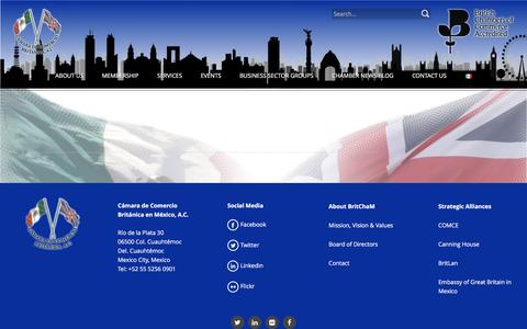 Screenshot of Services Page britchamexico.com - Services – British Chamber of Commerce in Mexico - captured Nov. 23, 2016
