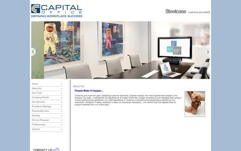 Screenshot of About Page capital-office.com - Capital Office - captured Sept. 27, 2014