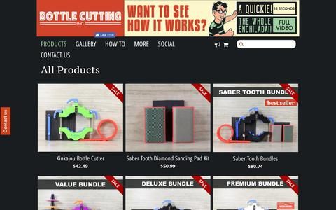 Screenshot of Products Page bottlecutting.com - All Products – Bottle Cutting Inc. - captured March 10, 2017