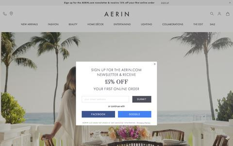Screenshot of Home Page aerin.com - Sites-aerin-Site - captured Aug. 10, 2019