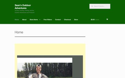 Screenshot of Home Page seansoutdooradventures.com - Home - Sean's Outdoor Adventures - captured Aug. 2, 2015