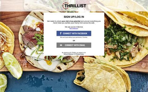 Screenshot of Signup Page thrillist.com - Join Thrillist - captured Sept. 17, 2014