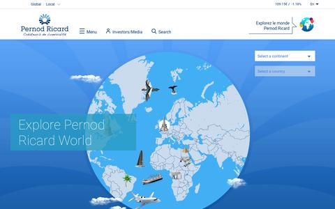 Explore Pernod Ricard World | Pernod Ricard, conviviality creators