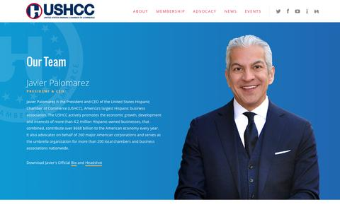 Screenshot of Team Page ushcc.com - Our Team - USHCC - captured Nov. 29, 2016
