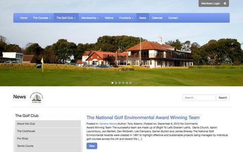 Screenshot of Press Page northforeland.co.uk - Golf Club News - North Foreland Golf Club, Kent - captured Sept. 25, 2014