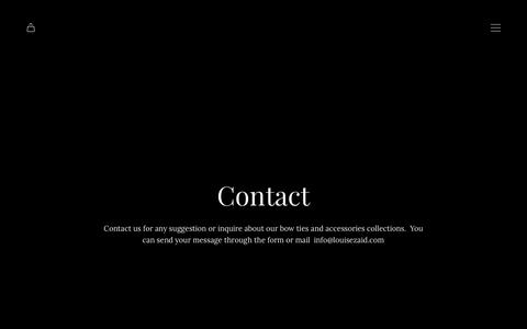 Screenshot of Contact Page louisezaid.com - Contact | LOUISE & ZAID - captured July 14, 2018
