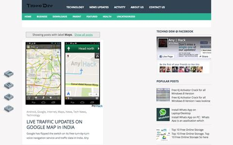 Screenshot of Maps & Directions Page technodew.com - Techno Dew: Maps - captured Aug. 13, 2015