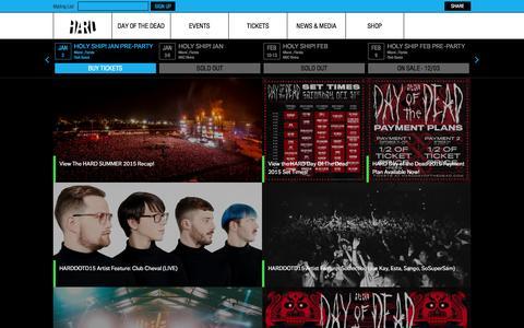 Screenshot of Press Page hardfest.com - HARD Fest  | News - captured Dec. 7, 2015