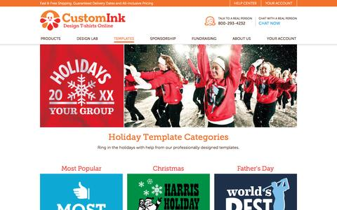 Holiday T-Shirt Designs - Designs For Custom Holiday T-Shirts - Free Shipping!