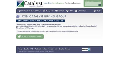 Screenshot of Signup Page catalystbuyinggroup.com - Join - captured Sept. 29, 2014