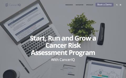 Screenshot of Home Page canceriq.com - Home | CancerIQ - captured May 14, 2018