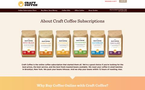 Screenshot of About Page craftcoffee.com - About Craft Coffee Subscriptions | Craft Coffee - captured April 22, 2018
