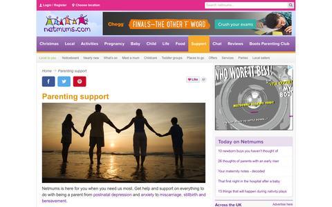 Screenshot of Support Page netmums.com - Support for parents - Netmums - captured Dec. 3, 2015