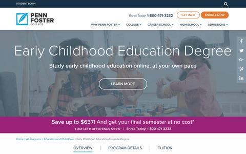 Early Childhood Education Degree Online | Penn Foster College
