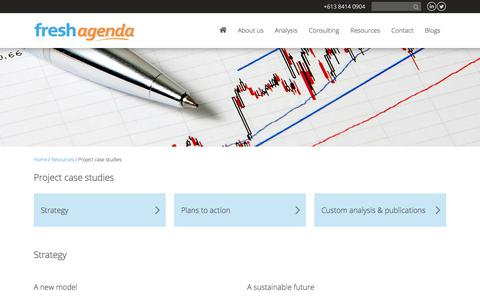 Screenshot of Case Studies Page freshagenda.com.au - Freshagenda: decision making tools, food market analysis - captured Aug. 29, 2018