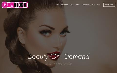 Screenshot of Home Page glamblock.com - GlamBlock - captured July 22, 2015