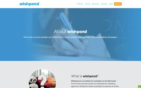 Screenshot of About Page wishpond.com - Company - captured Oct. 26, 2014
