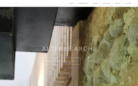 Screenshot of Home Page alterre-archi.fr - ALTER'RE ARCHI | ALTER'RE ARCHI - captured June 20, 2015