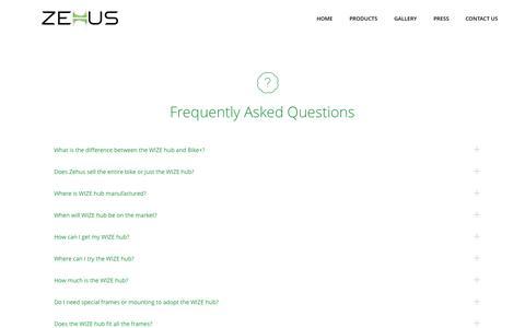 Screenshot of FAQ Page zehus.it - ZEHUS     FAQ - captured Oct. 9, 2014