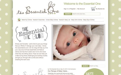 Screenshot of Blog theessentialone.com - The Essential One Blog - captured Sept. 25, 2014