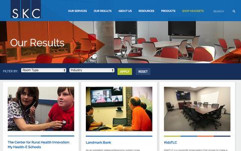 Screenshot of Case Studies Page skccom.com - Case Studies   SKC - captured Sept. 17, 2014