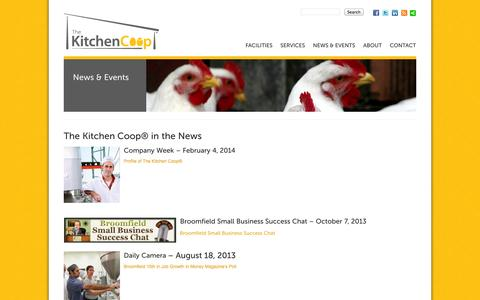 Screenshot of Press Page the-kitchen-coop.com - Press  - The Kitchen Coop - captured Sept. 30, 2014