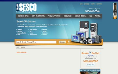 Screenshot of Site Map Page teamsesco.com - Sitemap | Team Sesco - captured Oct. 7, 2014