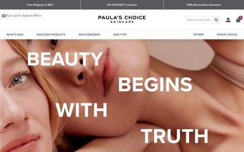 Screenshot of About Page paulaschoice.com - Paula's Choice Skincare | Paula's Choice - captured Jan. 9, 2020