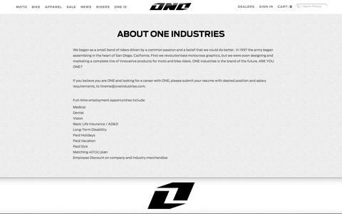 Screenshot of Jobs Page oneindustries.com - Careers - captured Oct. 26, 2014