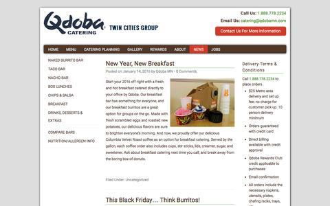Screenshot of Press Page qdobamn.com - News - Qdoba - captured Jan. 27, 2016