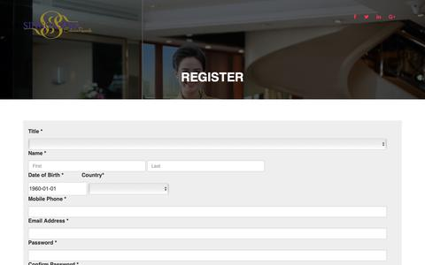 Screenshot of Signup Page singgasanahotels.com - Singgasana Exclusive Rewards - captured Oct. 18, 2018
