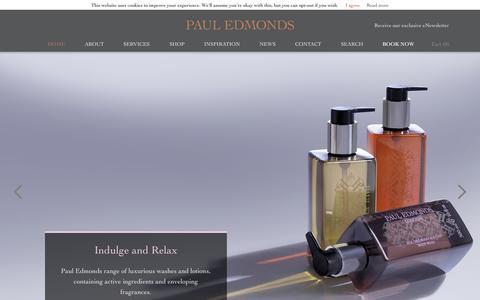 Screenshot of Home Page pauledmonds.com - Home - Paul Edmonds - captured Jan. 26, 2015
