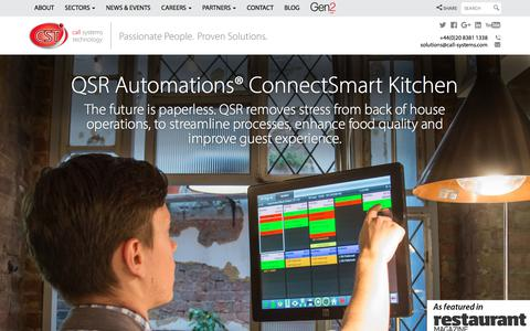 Screenshot of Home Page call-systems.com - Call Systems Technology  Call Systems Technology - captured July 11, 2017