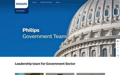 Screenshot of Team Page philips.com - Our people | Philips - captured July 25, 2017
