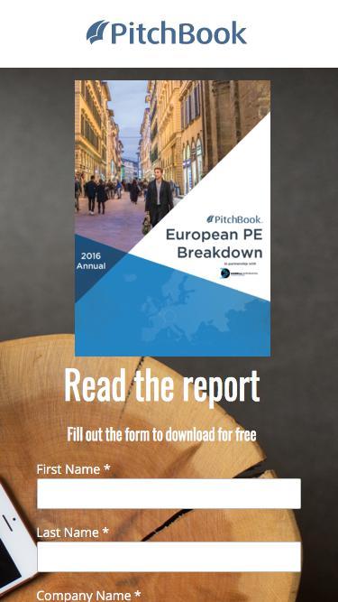 PitchBook 2016 Annual European PE Breakdown