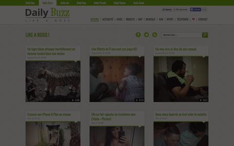 Screenshot of Home Page daily-buzz.fr - Daily Buzz - Like a boss ! - captured Sept. 24, 2014