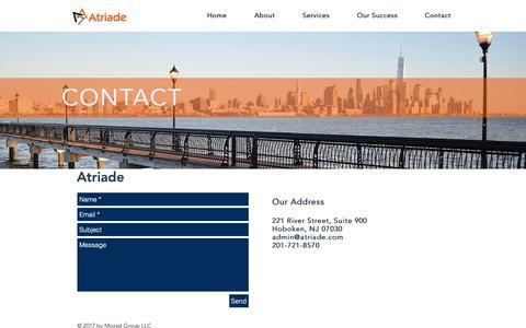 Screenshot of Contact Page atriade.com - atriade | Contact - captured Nov. 6, 2018