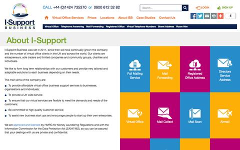 Screenshot of About Page i-support-business.co.uk - About Us - I-Support Business - captured Oct. 10, 2014