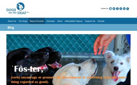 Screenshot of Blog dogsforthedeaf.org - Blog - Dogs for the Deaf - captured Oct. 12, 2017