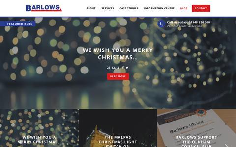 Screenshot of Blog barlows-electrical.com - Blog | Barlows - captured Dec. 30, 2015