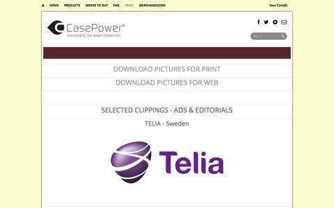Screenshot of Press Page case-power.com - PRESS Materials | CASEPOWER - captured Sept. 29, 2014