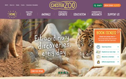 Screenshot of Home Page chesterzoo.org - Visit Chester Zoo - the UK's number one zoo - captured Feb. 20, 2016