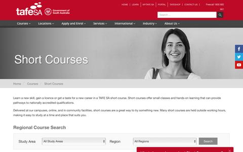 Study Short Courses - TAFE SA