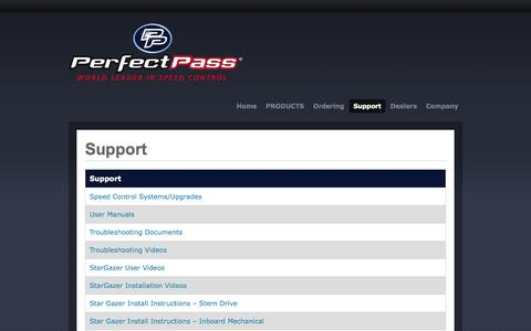 Screenshot of Support Page perfectpass.com - Support | Perfectpass.com - captured Oct. 1, 2014