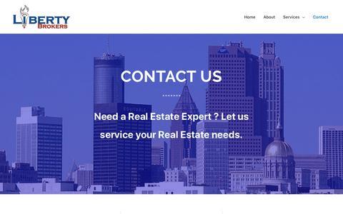 Screenshot of Contact Page libertybrokers.com - Contact - Liberty Brokers - captured Sept. 28, 2018
