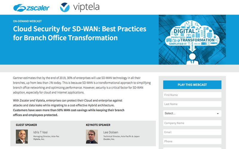 Cloud Security for SD-WAN: Best Practices for  Branch Office Transformation    Zscaler