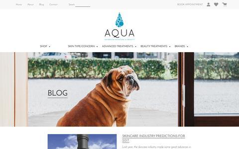 Screenshot of Press Page aquaskincare.co.uk - News - Aqua Skin Care : Aqua Skin Care - captured Jan. 7, 2017