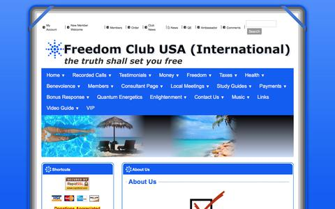 Screenshot of About Page freedomclubusa.com - Freedom Club USA - About Us - captured Sept. 23, 2018